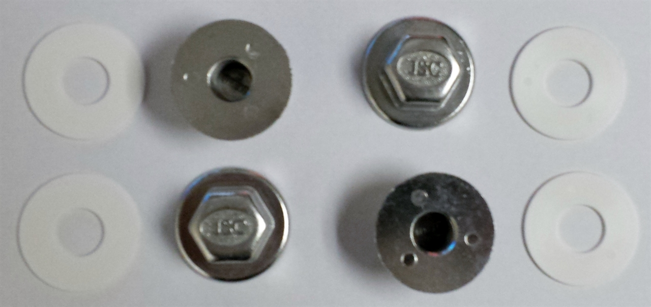 Die Cast Carrier Nuts And Plastic Washers For Wall Hung