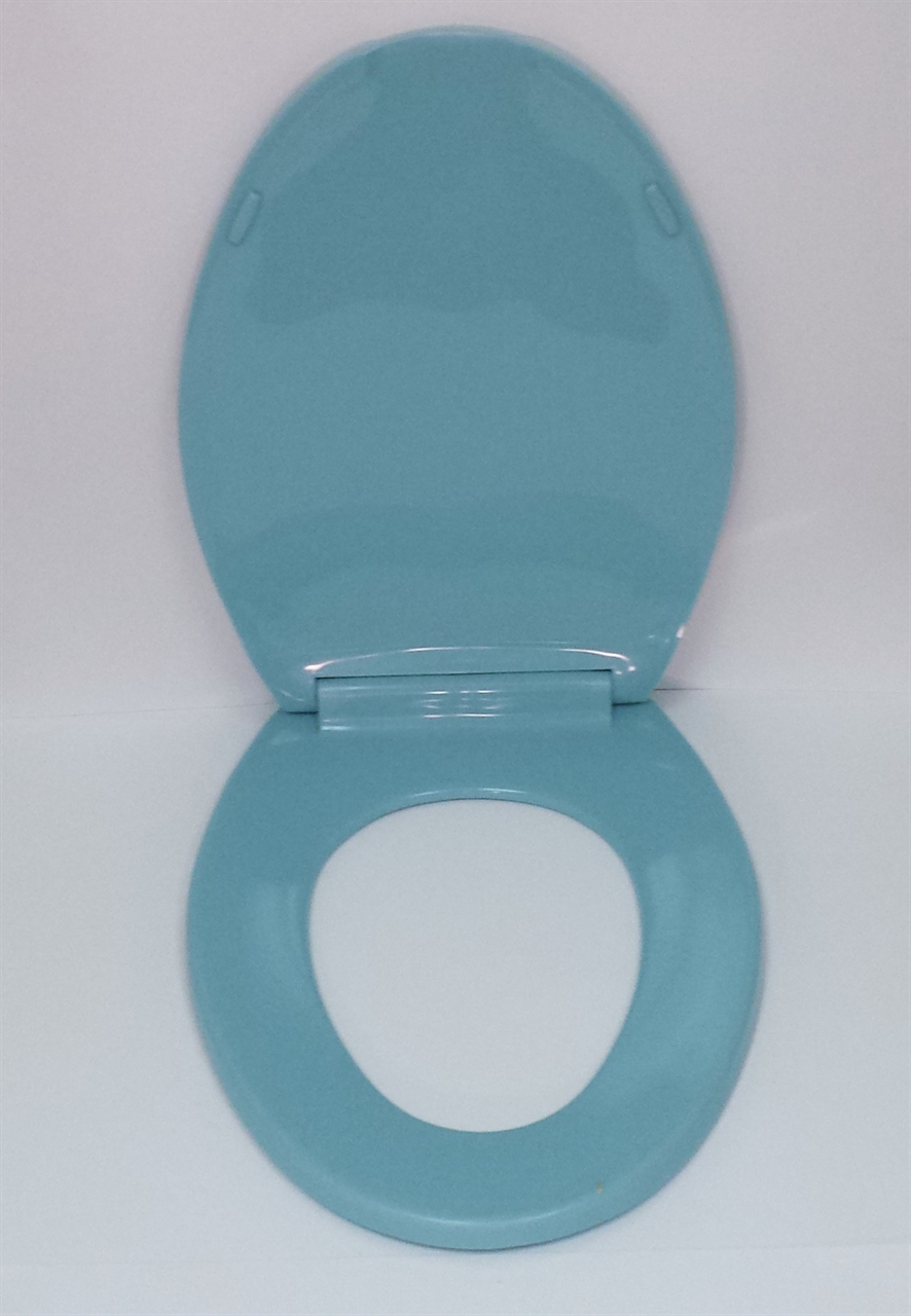 Turquoise Toilet Seat Elongated With Cover Noel S